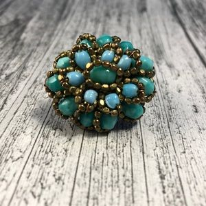 Jewelry - Hand-made Teal Ring Size 7